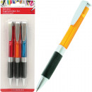 wholesale Pencils & Writing Instruments: Ballpoint pen 3er with comfort grip on card