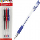 assorted pen gel 3er red, blue, black assorted