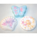 Bath bomb as flower, butterfly or seashell