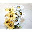 wholesale Decoration: Flower bouquet silk flowers with 7 heads, 40x8cm