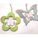 Aufhäger XL flower or butterfly made of wood