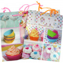 wholesale Gifts & Stationery: Gift cupcakes 23x18x10cm 5 designs assorted
