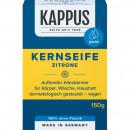 Soap Kappus Kernseife Lemon 150g in cellophane