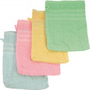 Gant de lavage 21x15cm 4 couleurs assorti