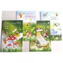 Birthday Card vicces katicabogár + méhek