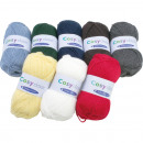Wool Cozy 50g. 8 classic colors assorted , 130