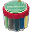 Sewing thread 12 round box + needles sizes