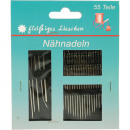 wholesale Haberdashery & Sewing: Sewing needles 55 pieces on card 12x10cm