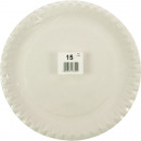 Party plate 15er 23cm white welded