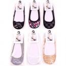 Großhandel Strümpfe & Socken: Füßlinge Damen Einheitsgröße 6 Designs sortiert