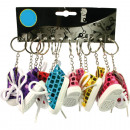 nagyker Kulcstartók: Kulcstartók sportcipőgyártó 8cm 5 színben