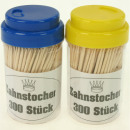 Toothpick 300er in dispenser box 7x4cm, color sort