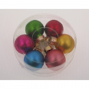 Christmas balls set of 6 in a round transparent bo