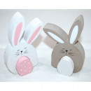 Sweet wooden rabbit XL 11,7x8x2cm 2-parts with woo