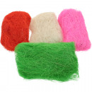 Sisal in 6 colors assorted , 25g per bag