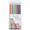 Colored pencils 10 pcs. Sharpened in poly bag 19cm