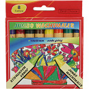 wholesale Gifts & Stationery: Wax Crayons 8er Jumbo 13x110mm for d. school