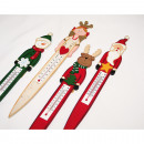 Wooden decoration thermometer XL 28x 4,5cm