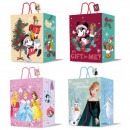 wholesale Licensed Products: Disney Christmas gift bag 23x18x10cm