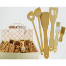 Cooking spoon and cake brush 7 assorted