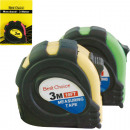 wholesale Garden & DIY store: Measuring tape roll 3m housing with rubber grip 6x