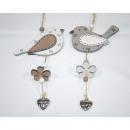 nagyker Dekoráció: Fa madár XL 11,5x28cm, akasztóként