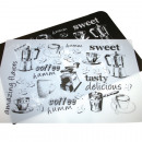Placemat black & white