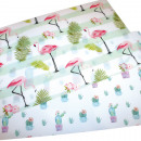 wholesale Table Linen: Placemat with flamingo or cactus, 2 times ...