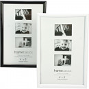 Photo frame 10x15cm glossy black / white ...