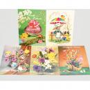Großhandel Geschenkartikel & Papeterie: Oster Postkarten 5er Pack, Preis je Set!