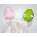 Easter egg plunger set of 2, each 7x5x40cm, assort