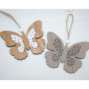 wholesale Decoration: Great XL wood butterfly, 12.5x22cm