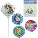 Balloon unicorn 32cm, 6 times assorted self- times