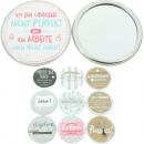 wholesale Make-up Accessoires: Sheepworld mirror with sayings 10 motives assorted