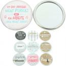Großhandel Make-up Accessoires: Spiegel Sheepworld mit Sprüchen 10 Motiven sortier