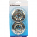 Drainers 2pcs. Set 7cm chrome-plated on card