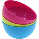 Bowl around 0.6L of colors assorted made of plasti
