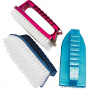 Brush with handle 14.5cm in trendy assorted