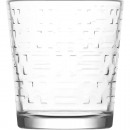 Glass drinking glass 295ml, with structure