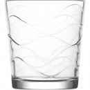 wholesale Drinking Glasses: Glass drinking glass 295ml, wave structure
