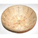 Bast basket round natural colors