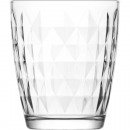 wholesale Drinking Glasses: Glass of water glass 340ml, rhombus, H: 9,5cm