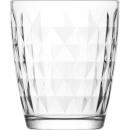 Bicchiere da caffè in vetro 340ml, rombo, H: 9,5 c