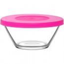 Großhandel Geschirr: Glas Schälchen mit Deckel 215ml