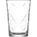 wholesale Drinking Glasses: Glass of water glass 205ml large rhombuses, 10cm h