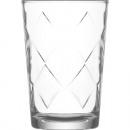 Grandi bicchieri di vetro 205ml con grandi rombi,