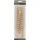 wholesale Weather Stations: Thermometer of wood on card 22x5x0.5 cm