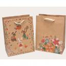 Großhandel Geschenkartikel & Papeterie: Tasche aus Kraftpapier 23x18x10cm 2-fach ...