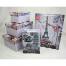 Boxing set Italy, Paris and New York 6 different s