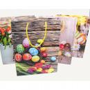 Großhandel Geschenkartikel & Papeterie:-Oster Geschenktasche 34,5x25x8,5cm, XL ...